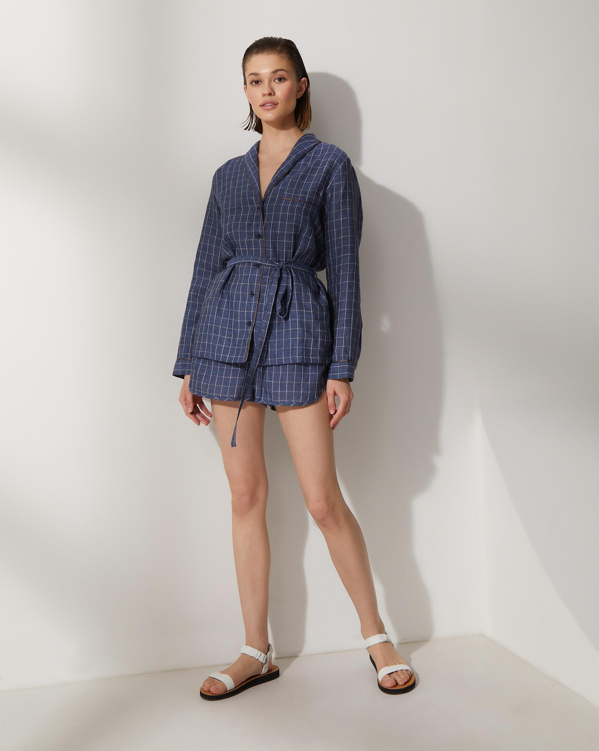 Комплект: Рубашка с шортами изо льна