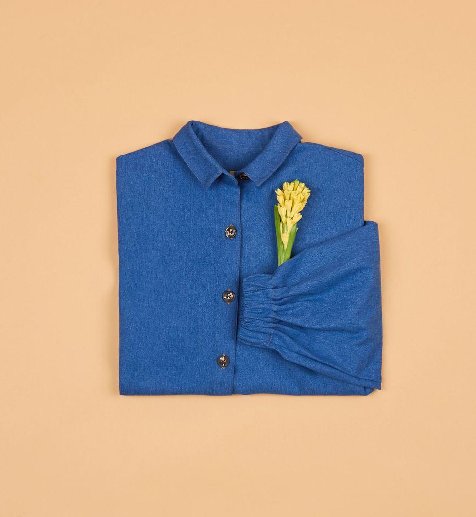 Рубашка из денима One sizeРубашки<br><br><br>Артикул: 23006779<br>Размер: One size<br>Цвет: Голубой<br>Новинка: НЕТ<br>Наименование en: Oversized denim shirt