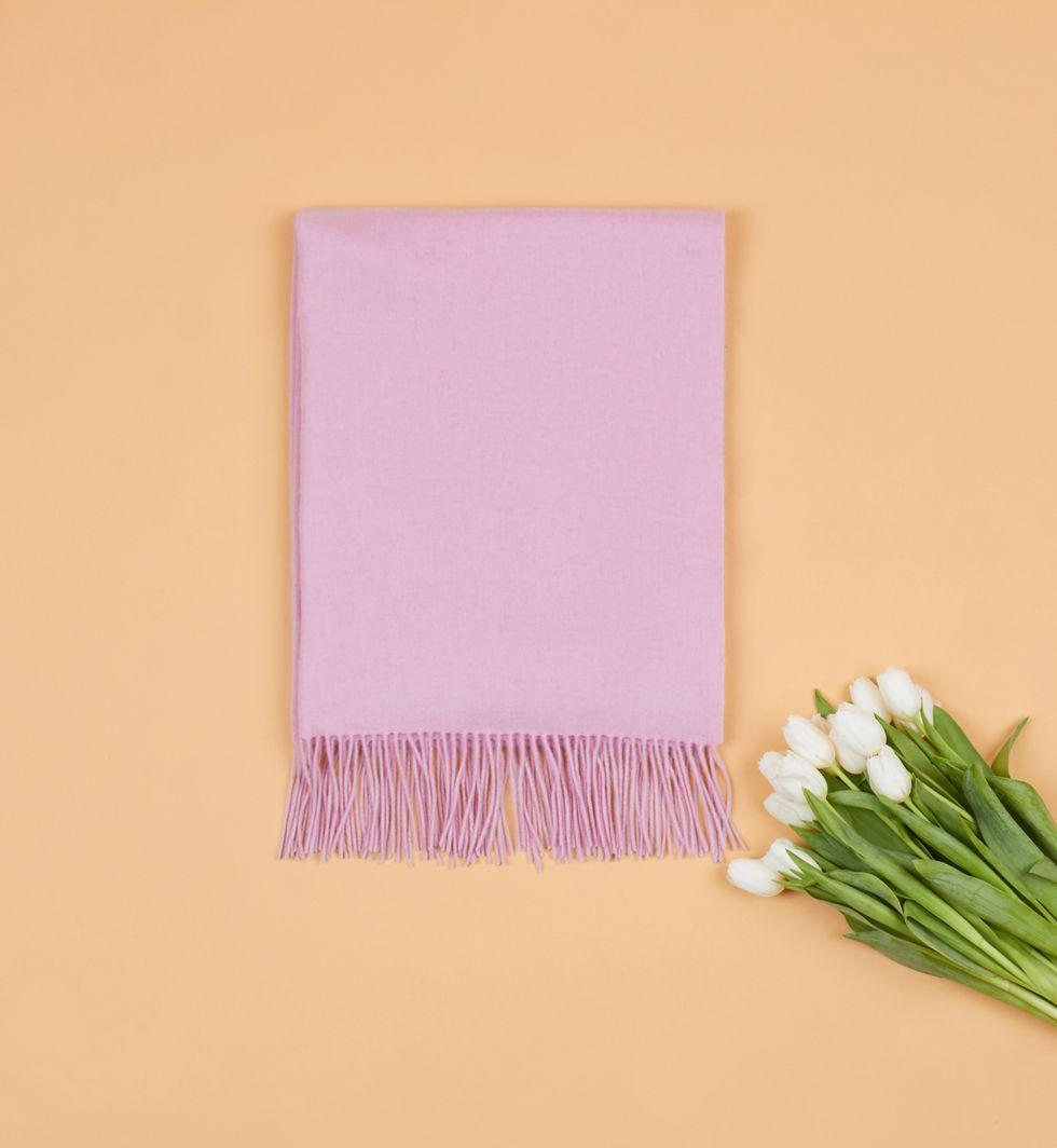 Шарф из кашемира, шелка и шерсти (розовый)