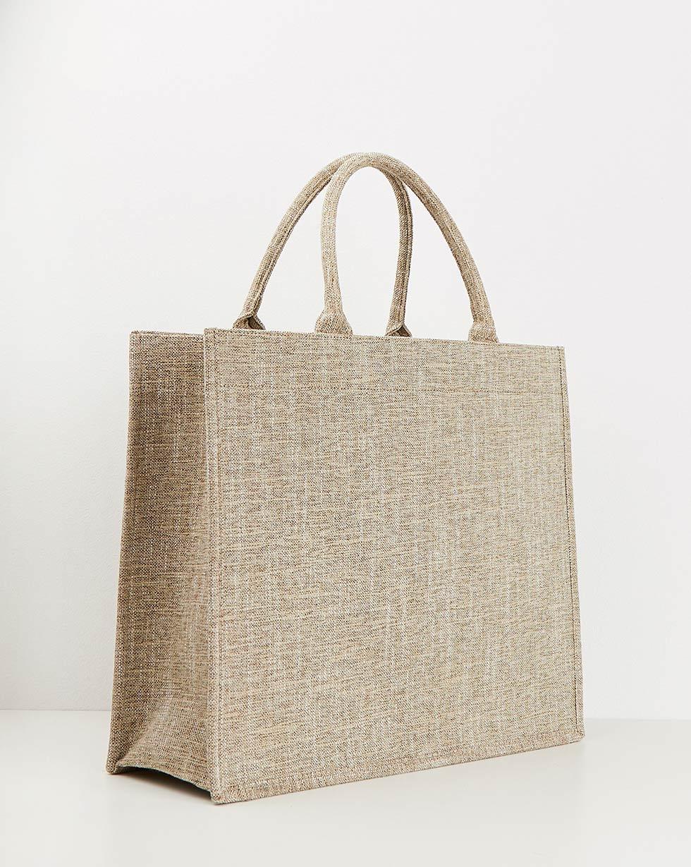 Фото - 12Storeez Сумка-шоппер холщовая сумка шоппер средняя из парусины с блестками