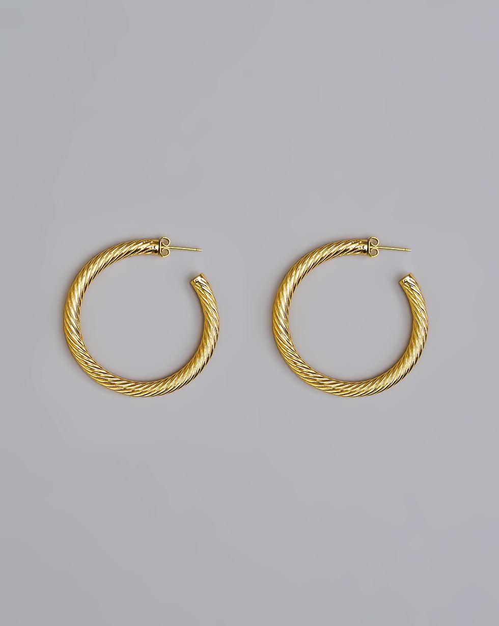12Storeez Серьги-кольца (золотой)