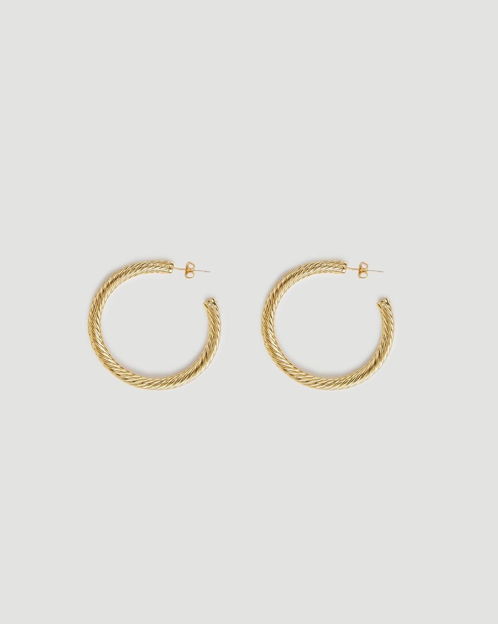 12Storeez Серьги-кольца, покрытые золотом