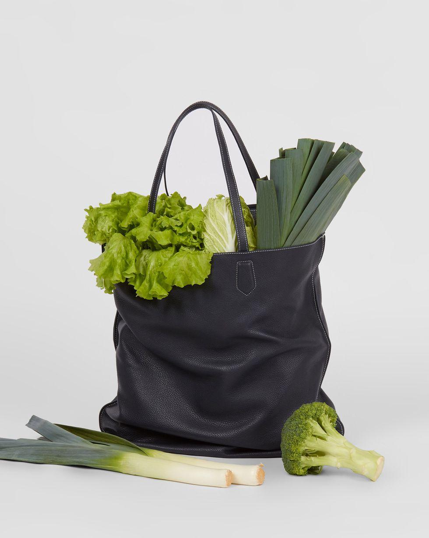 12Storeez Сумка-шопер из кожи (синяя) 12storeez сумка шопер макси коричневая