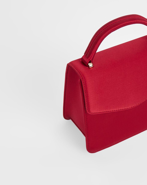 12Storeez Сумка из атласа маленькая (бордовая) маленькая сумочка b5049