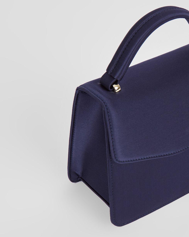 12Storeez Сумка из атласа маленькая (темно-синяя) маленькая сумочка 100