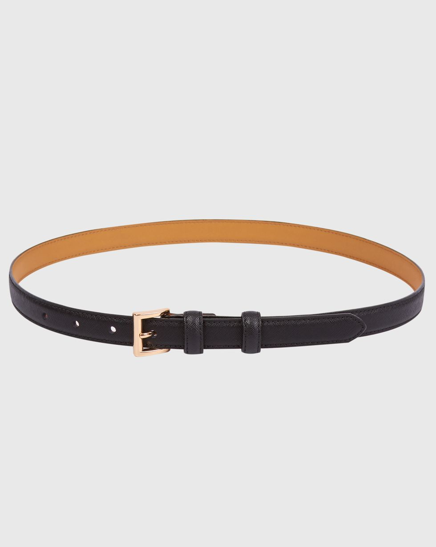 Ремень узкий с квадратной пряжкой LАксессуары<br><br><br>Артикул: 1094510946<br>Размер: L<br>Цвет: Черный<br>Новинка: ДА<br>Наименование en: Square buckle narrow leather belt