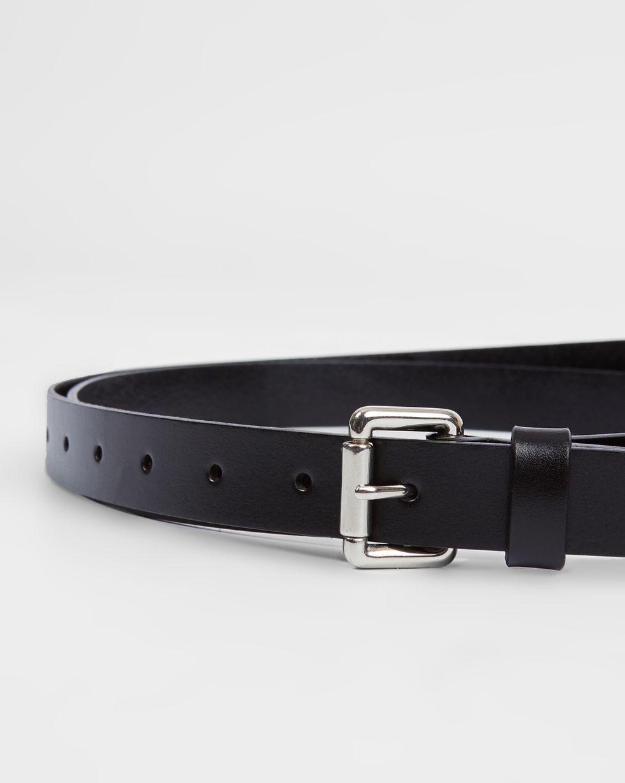 Ремень длинный из гладкой кожи  One sizeАксессуары<br><br><br>Артикул: 1094511579<br>Размер: One size<br>Цвет: Черный<br>Новинка: НЕТ<br>Наименование en: Smooth leather belt