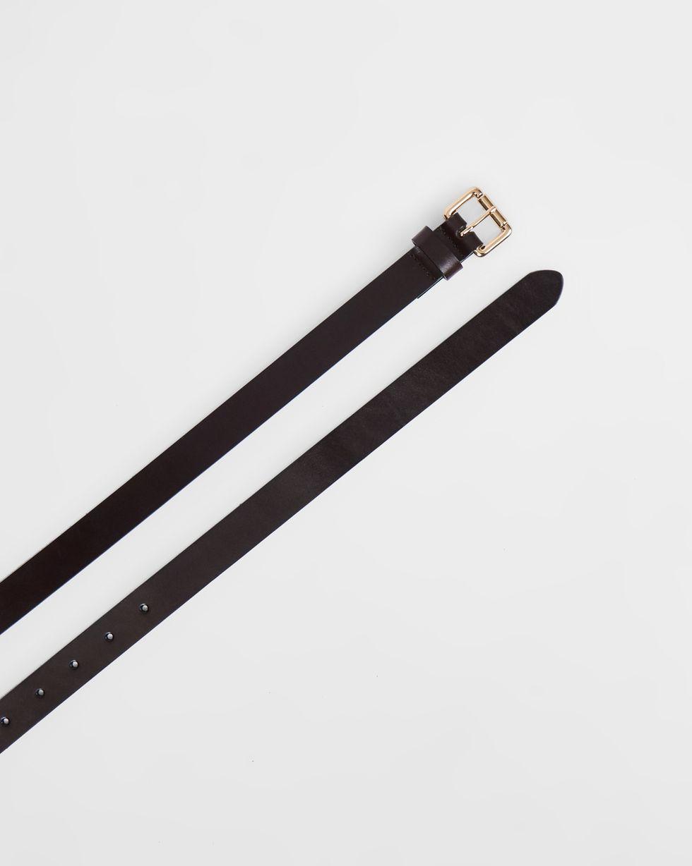 12Storeez Ремень длинный из гладкой кожи (темно-коричневый) 12storeez ремень длинный из гладкой кожи черный