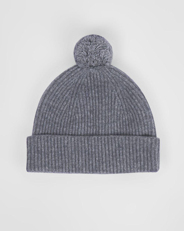 Шапка с помпоном One sizeАксессуары<br><br><br>Артикул: 80010539<br>Размер: One size<br>Цвет: Серый<br>Новинка: НЕТ<br>Наименование en: Pompom knit beanie hat