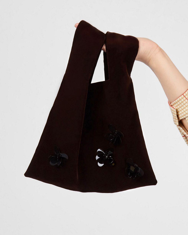 Купить со скидкой Сумка-мешок из бархата One size