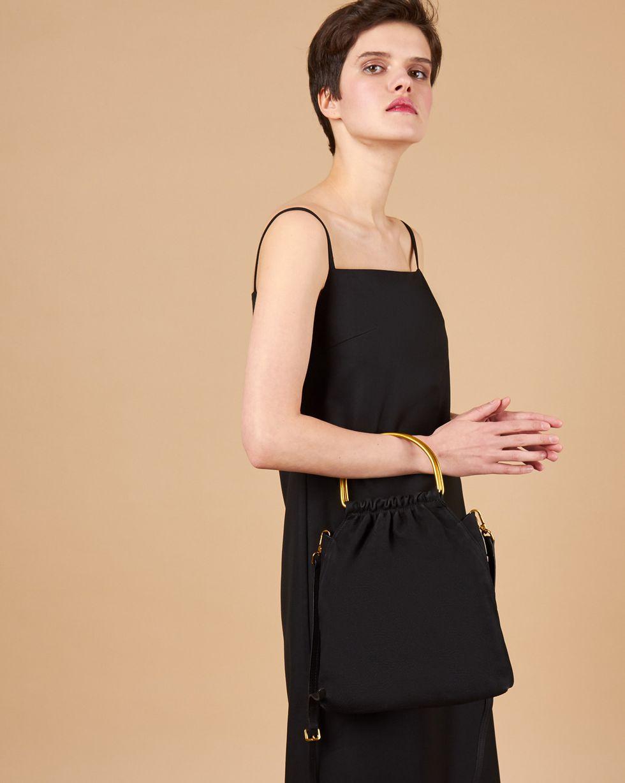 12Storeez Сумка-мешок из замши (черная) 12storeez блуза с бантом в горох черная