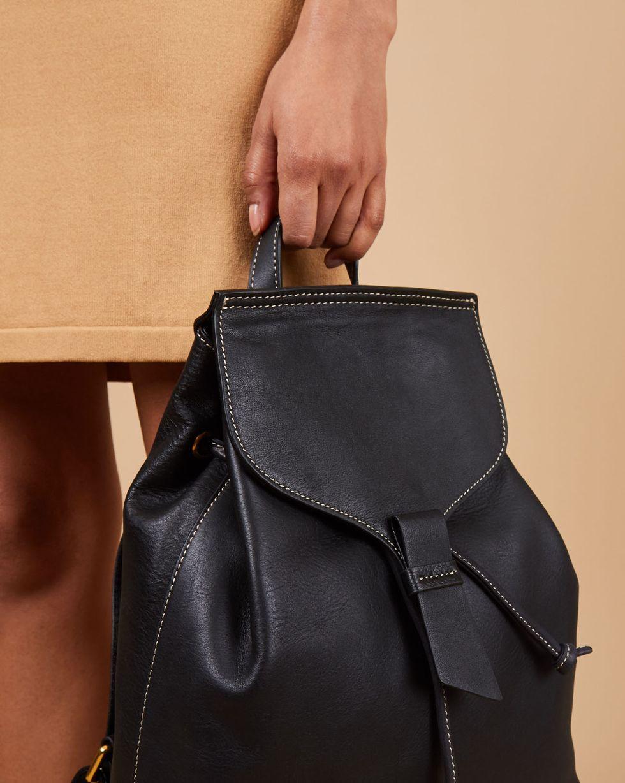 купить 12Storeez Сумка-рюкзак из кожи большая (черная) по цене 7790 рублей