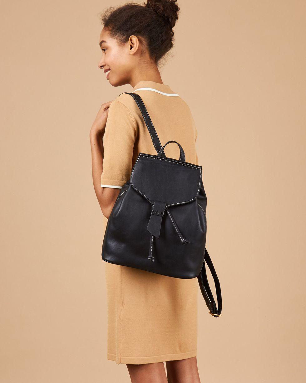 Сумка-рюкзак из кожи большая One size