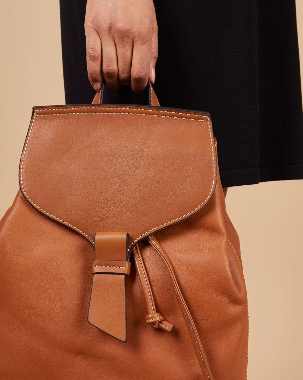 12Storeez Сумка-рюкзак из кожи большая (рыжая) oiwas ноутбук рюкзак водонепроницаемый большой сумка сумка бизнес стиль рюкзак ноутбук таблетка защитная сумка
