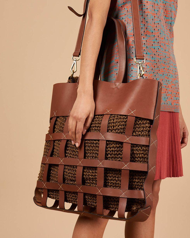 12Storeez Сумка-шопер комбинированная сумка lamania lamania la002bwfyxj5