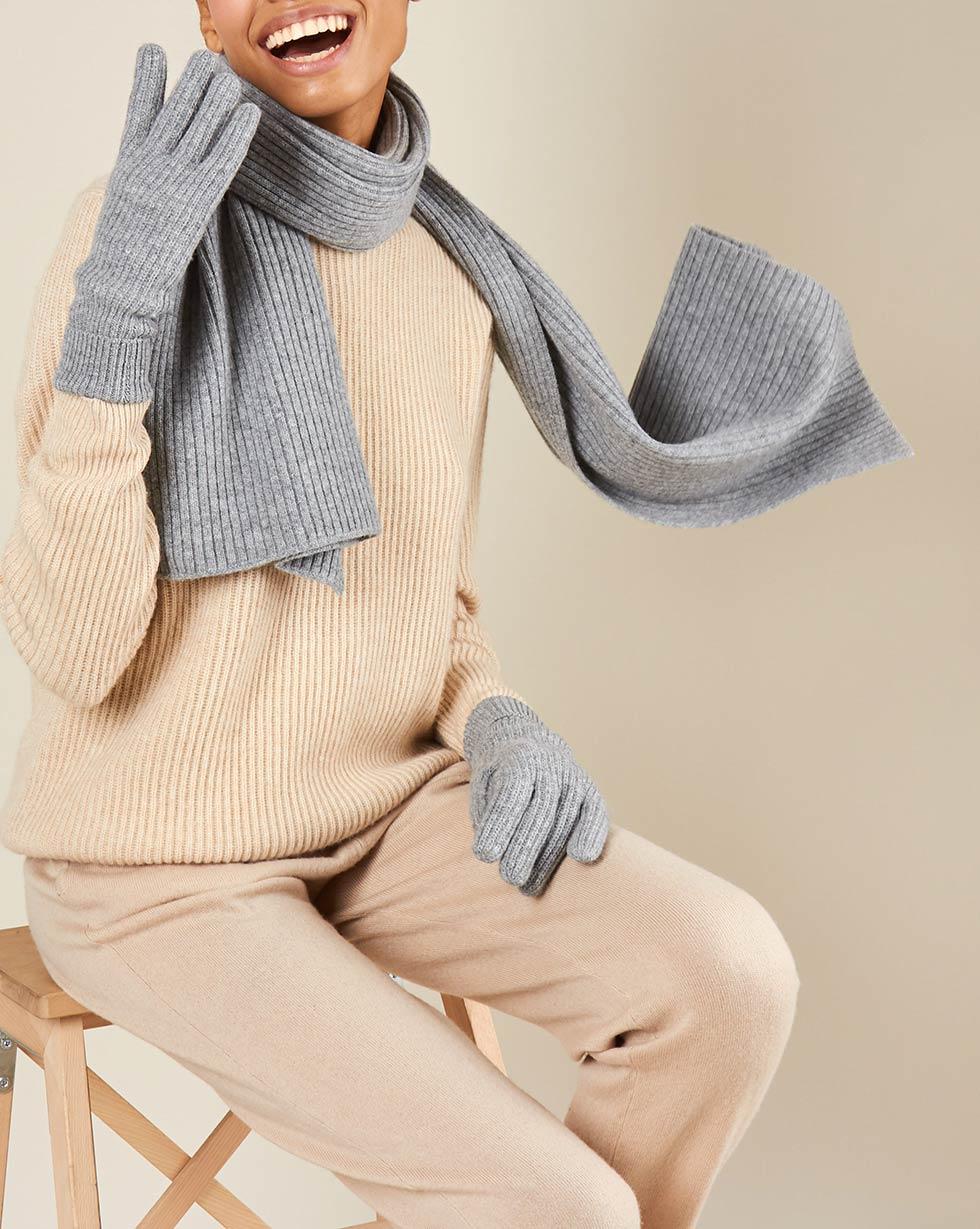 12Storeez Шарф (серый) FW18-19 шарф sj539 rglt 100%
