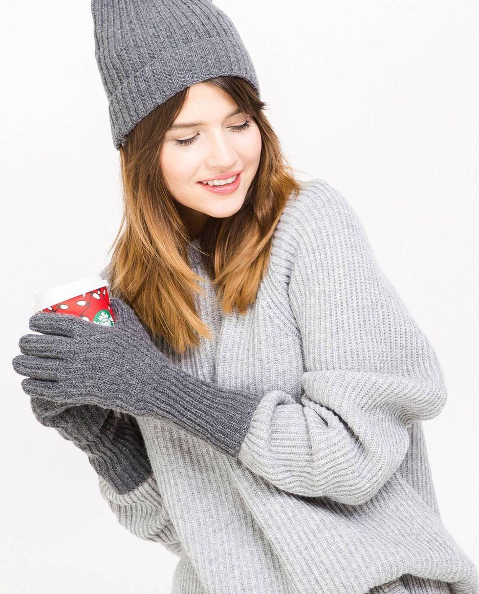 12Storeez Перчатки (темно-серые) eleganzza серые перчатки с отделкой