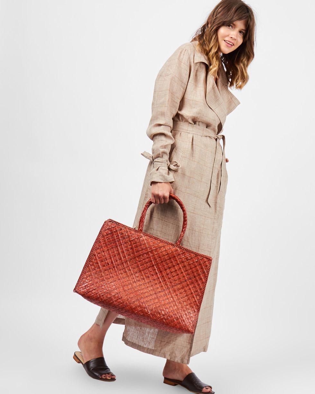 12Storeez Сумка-шопер макси (коричневая) 12storeez сумка из меха норки темно коричневая