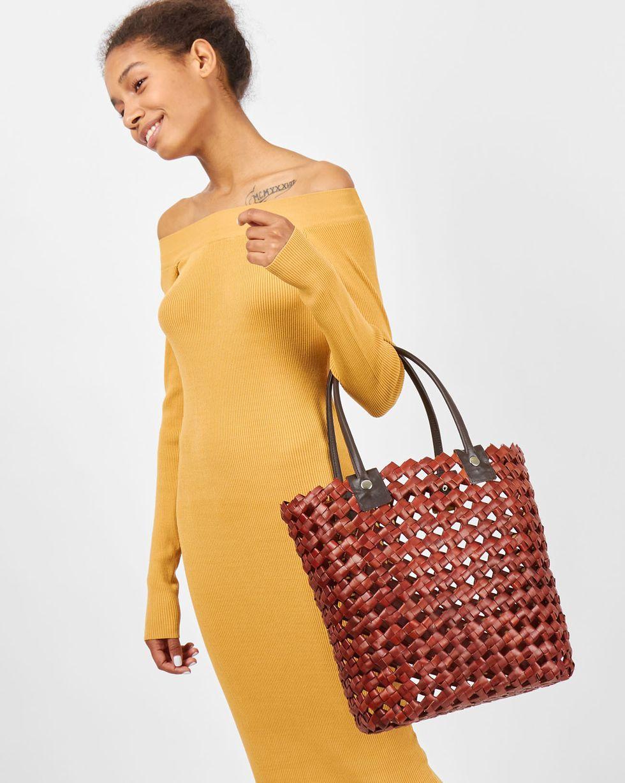 Сумка крупного плетения мини miniаксессуары<br><br><br>Артикул: 8009793<br>Размер: mini<br>Цвет: Коричневый<br>Новинка: ДА<br>Наименование en: Plaited tote bag
