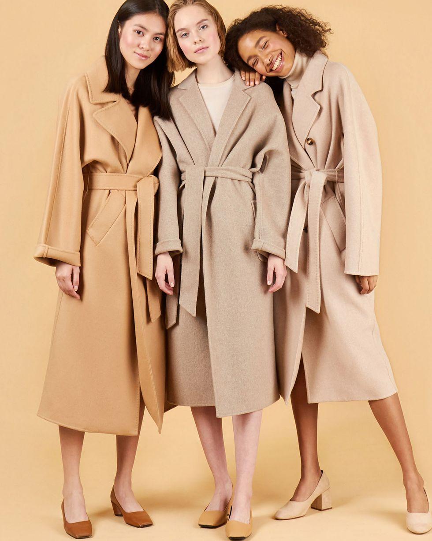 Пальто-халат One sizeВерхняя одежда<br><br><br>Артикул: 79912634<br>Размер: One size<br>Цвет: Кофейный<br>Новинка: НЕТ<br>Наименование en: Belted robe coat