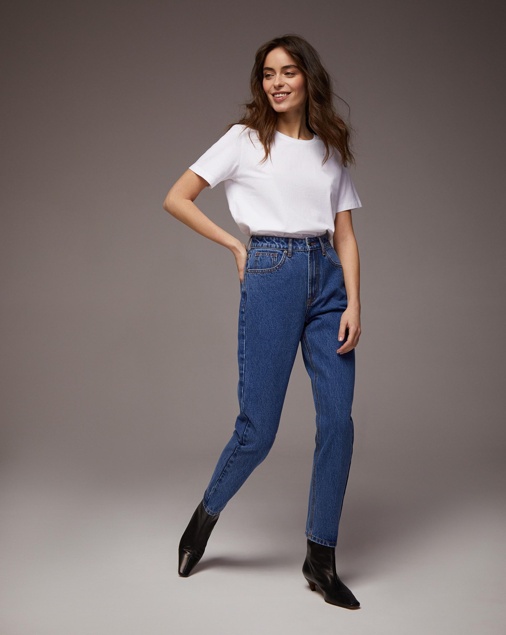 12⠀STOREEZ Джинсы прямые свободные джинсы blugirl джинсы в стиле брюк