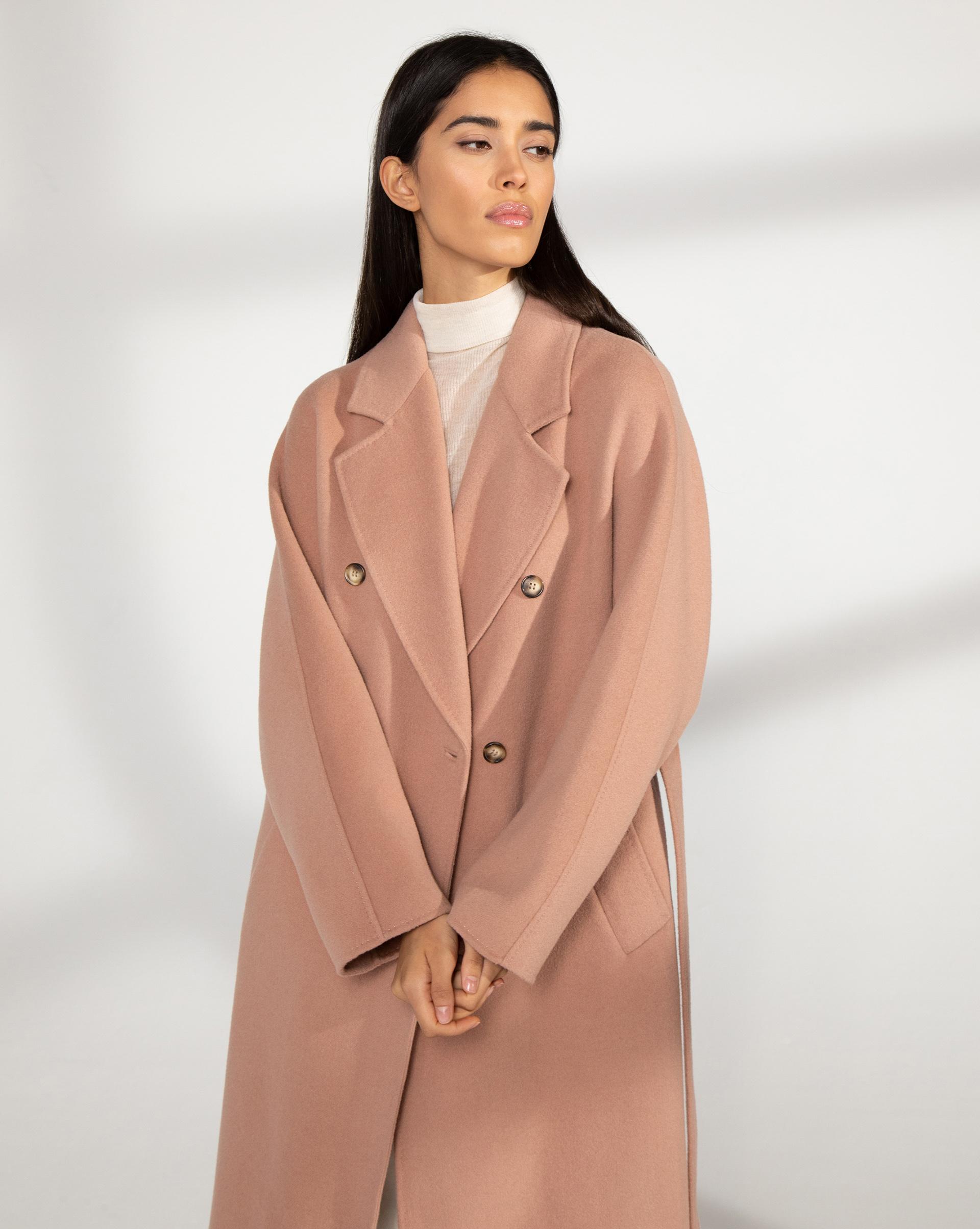 12⠀STOREEZ Пальто двубортное с поясом