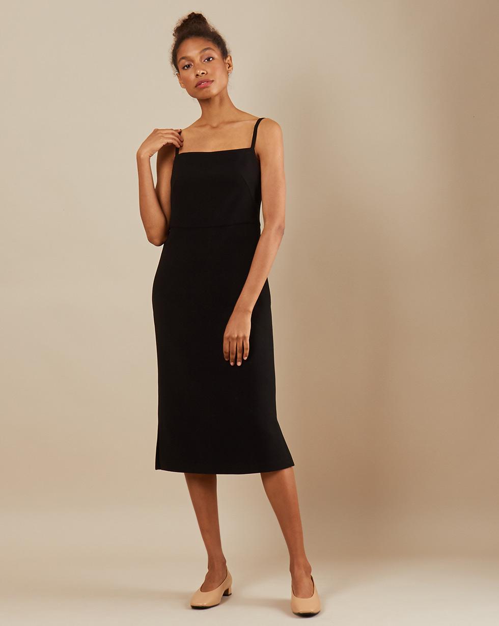 12Storeez Платье миди DR5858-003 (Черный)
