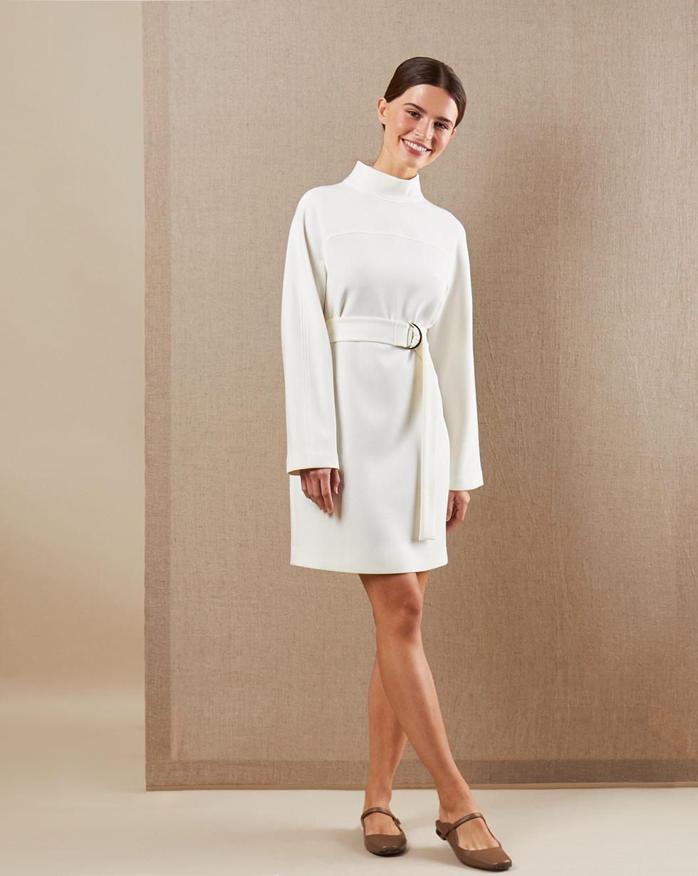 12Storeez Платье мини DR59-001 (Белый) цена