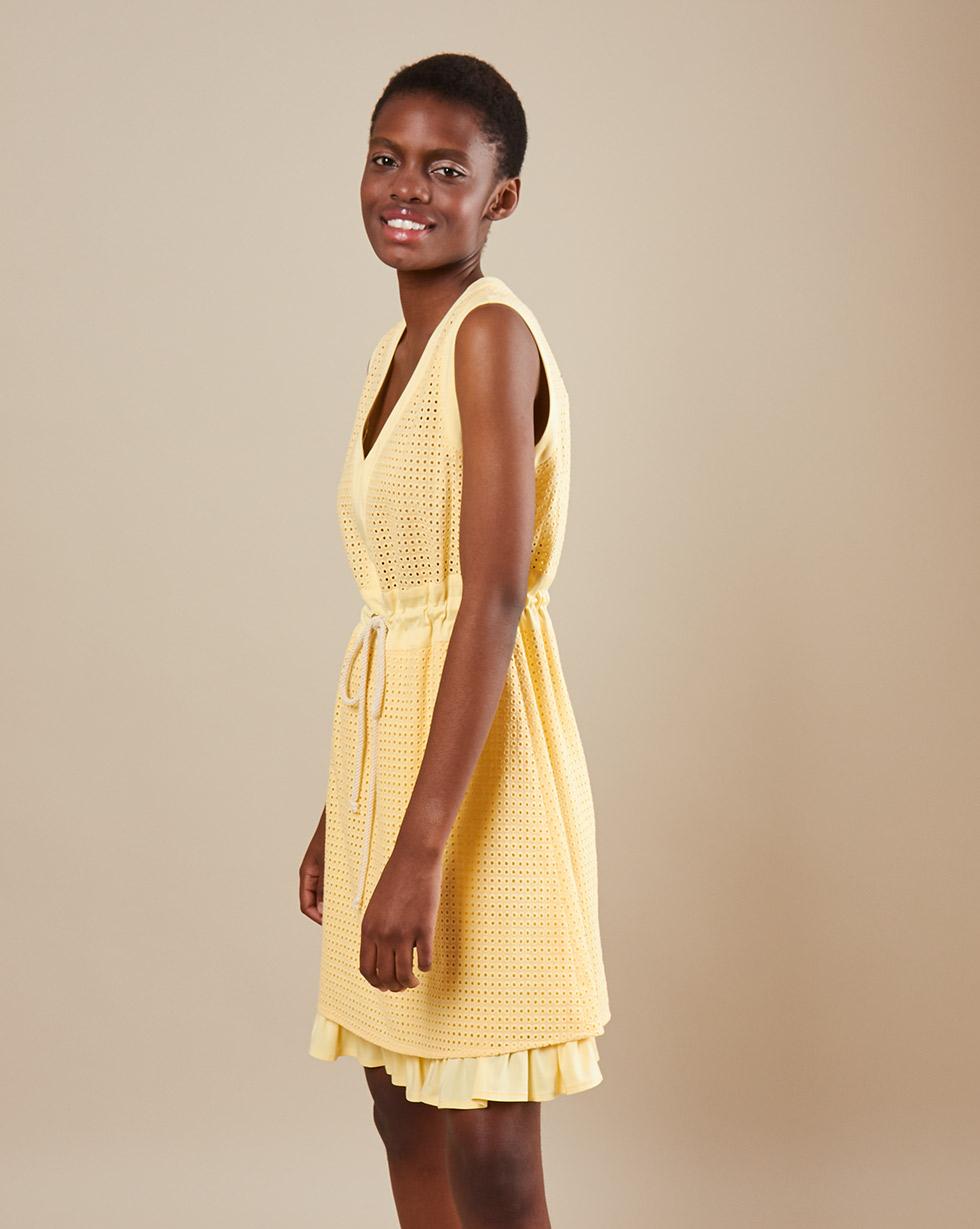 12Storeez Платье мини DR59-002 (Желтый)