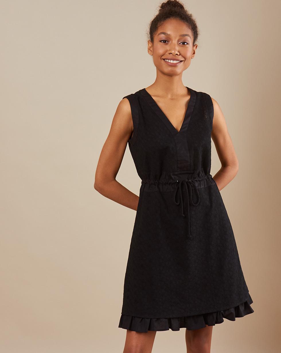 12Storeez Платье мини DR59-002 (Черный)