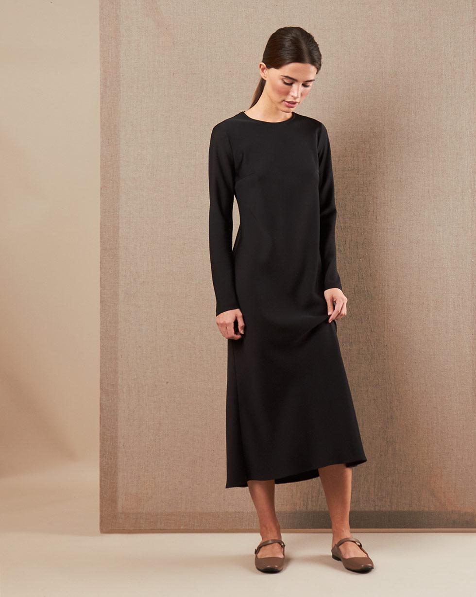 12Storeez Платье миди DR58/010 (Черный)