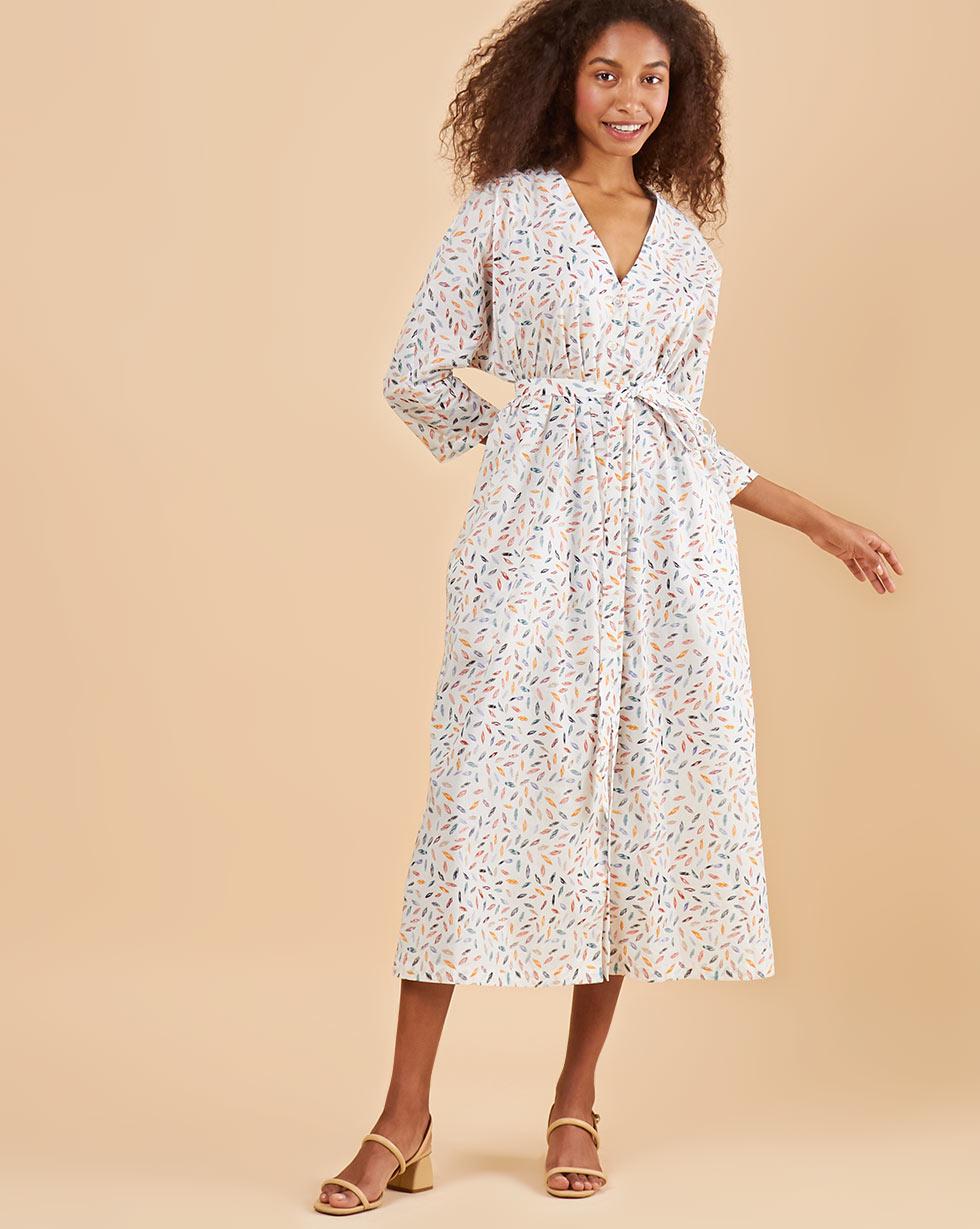 12Storeez Платье миди DR58-014 (Белый) 12storeez платье миди с кантом белый