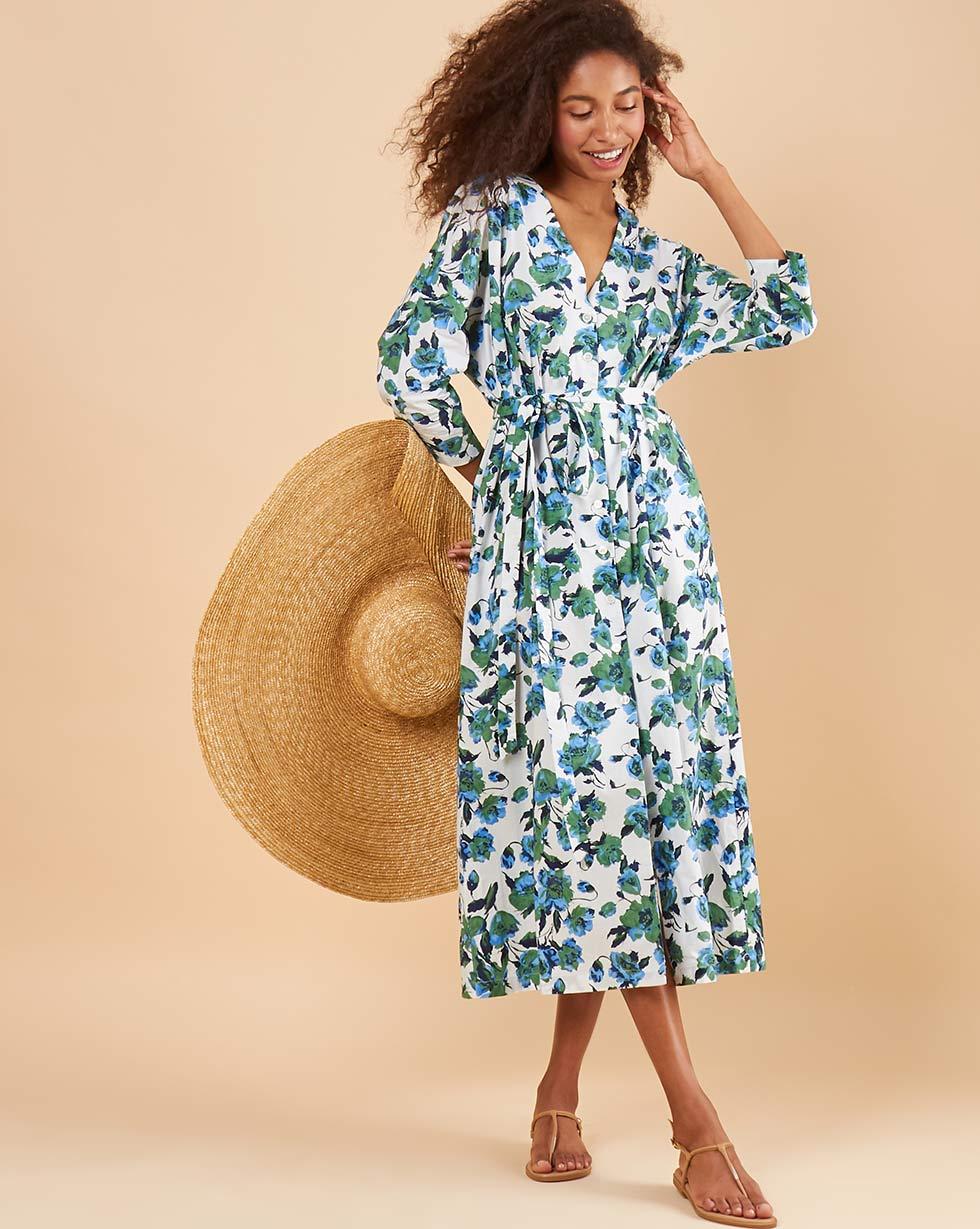 купить 12Storeez Платье миди DR58-014 (Синий) по цене 4980 рублей