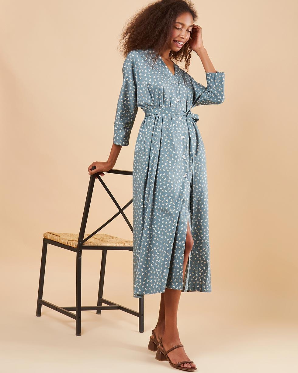 купить 12Storeez Платье миди DR58-014 (Серый) по цене 4980 рублей