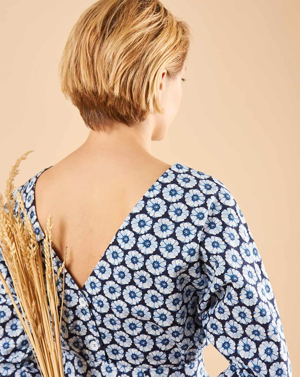 12Storeez Платье мини DR59/003 (Синий)