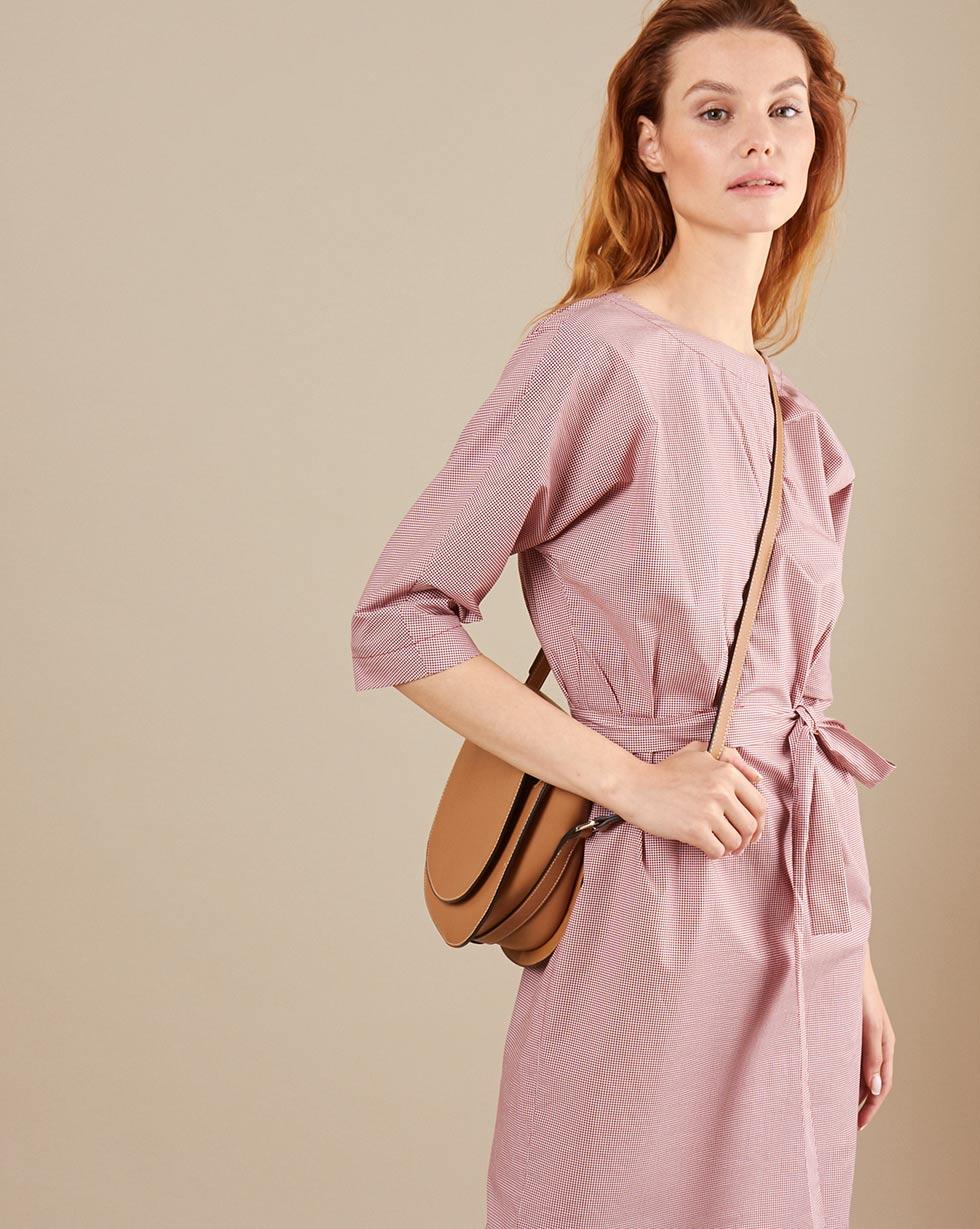 купить 12Storeez Платье мини DR59/ 003 (Белый в красный горох) по цене 3980 рублей