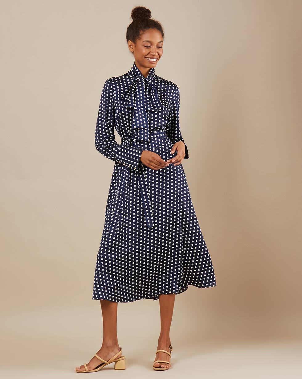 12Storeez Платье миди DR58/018 (Синий) платье миди рукав 3 4 синий