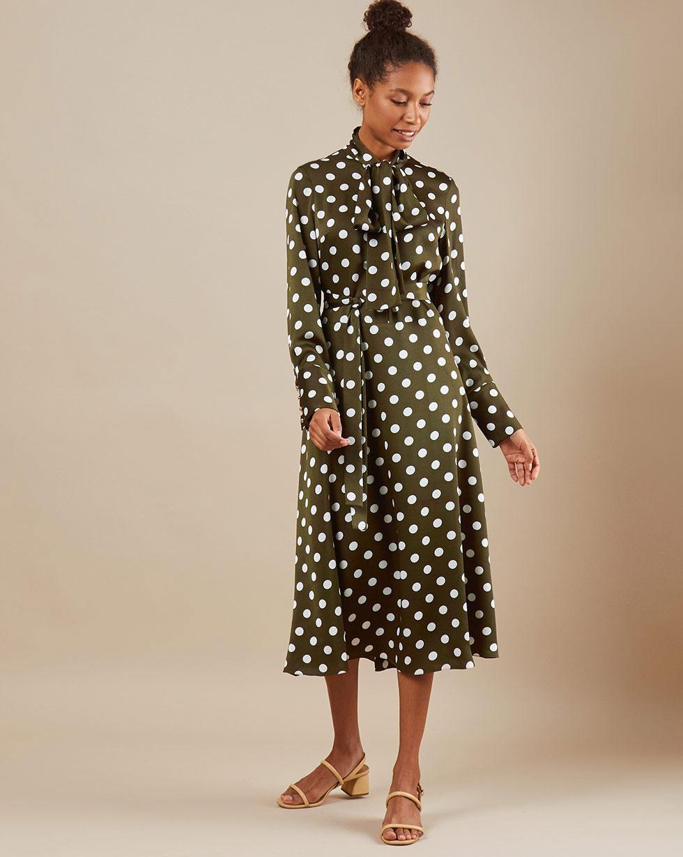 12Storeez Платье миди DR58/018 (Зеленый)