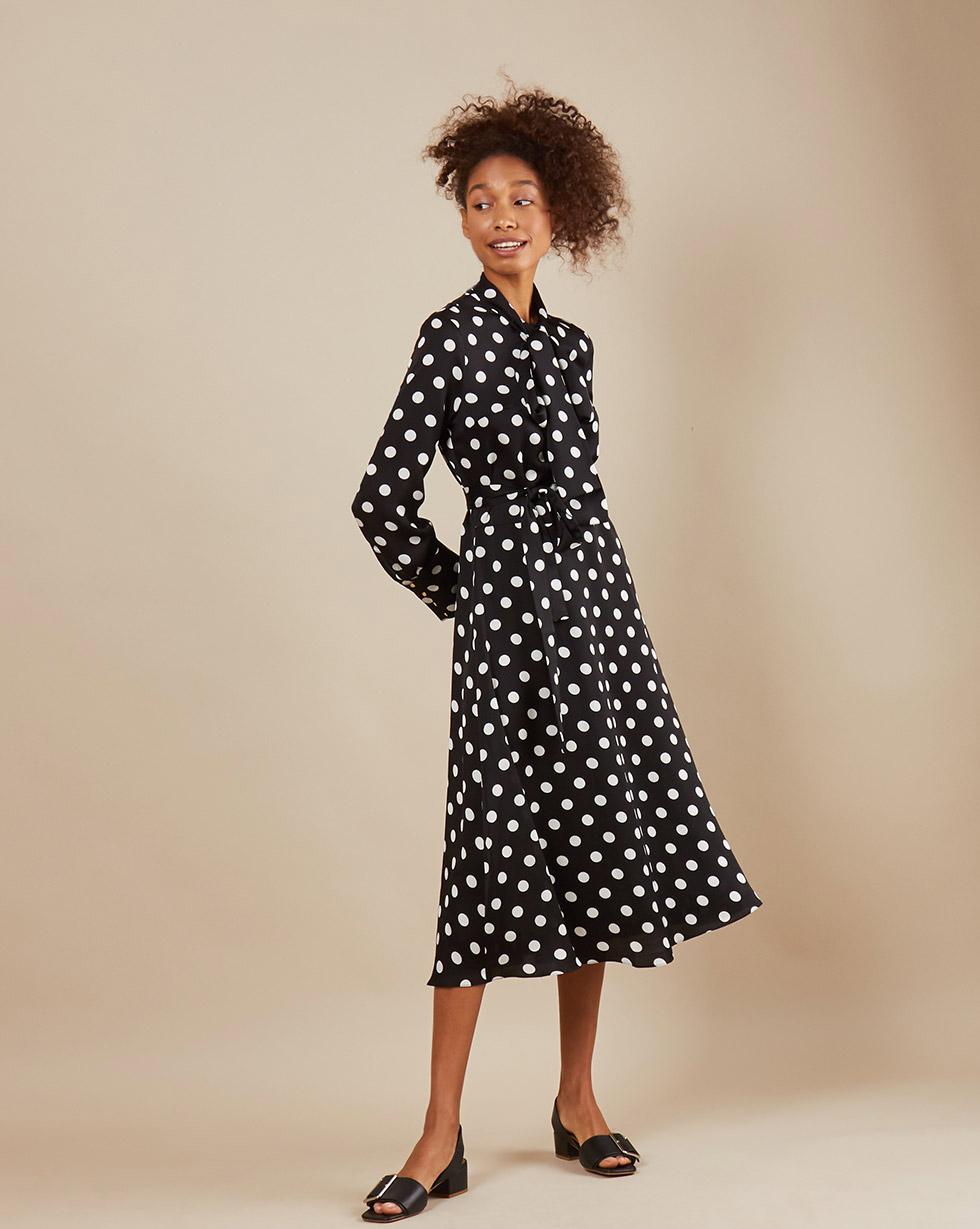12Storeez Платье миди DR58/018 (Черный)