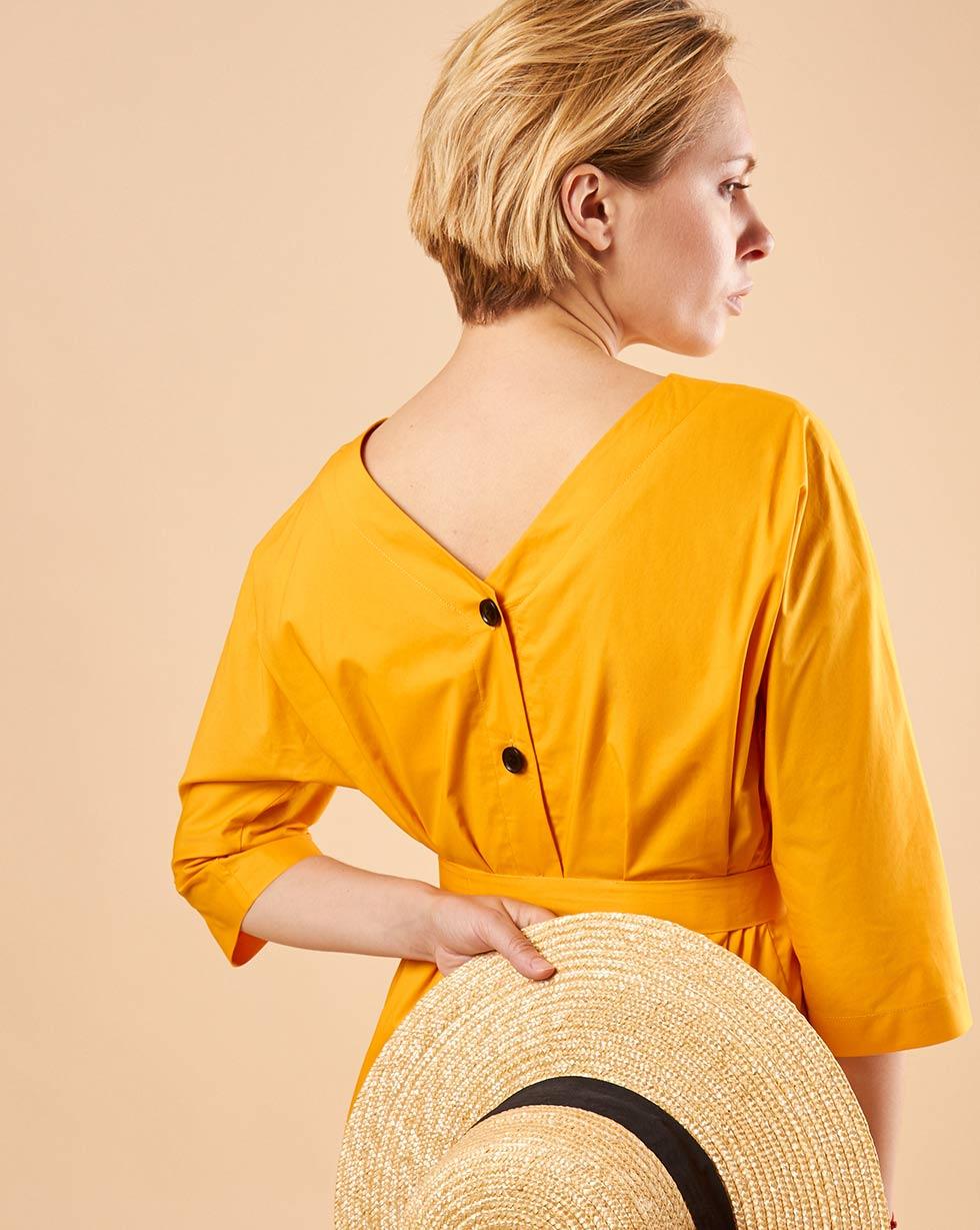 12Storeez Платье мини DR57-039 (Оранжевый)