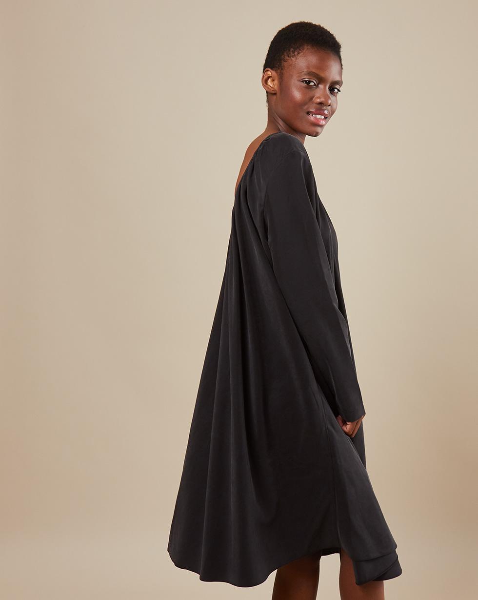 12Storeez Платье миди DR58-012 (Черный)