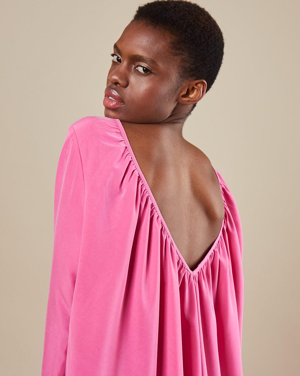 12Storeez Платье миди DR58-012 (Розовый)