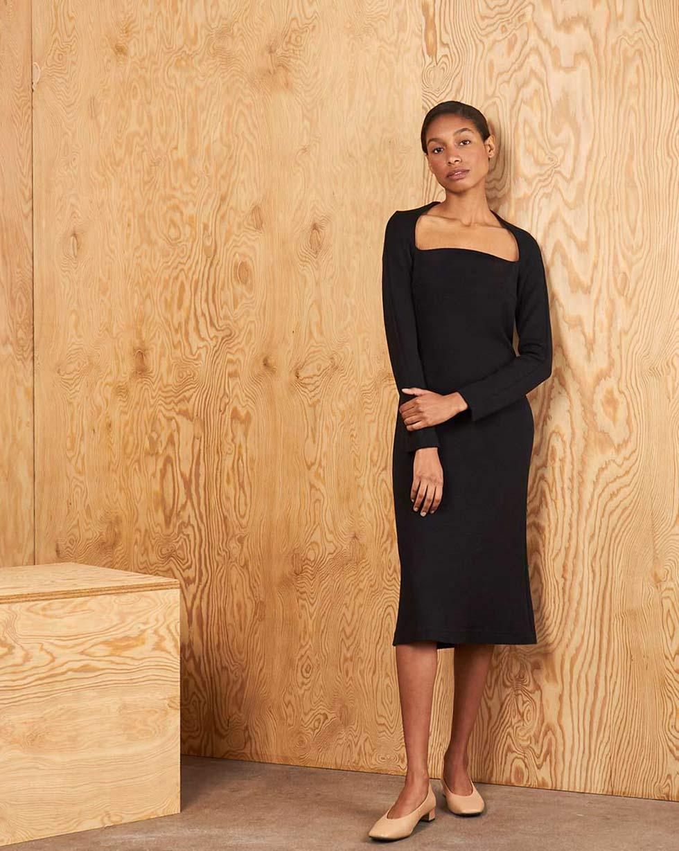 12Storeez Платье из трикотажа платье goddiva goddiva go014ewavat1