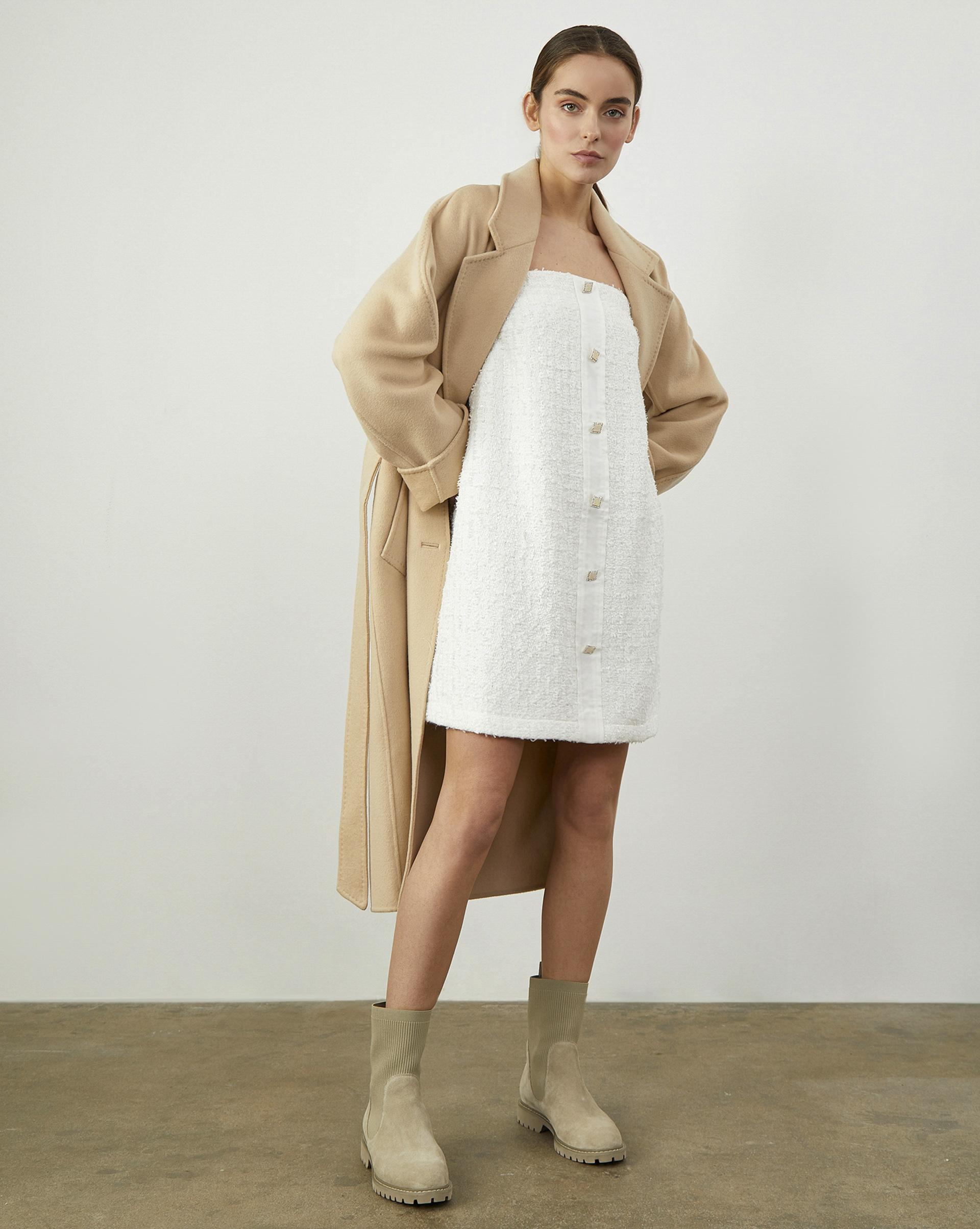12Storeez Платье мини (Белый) цена
