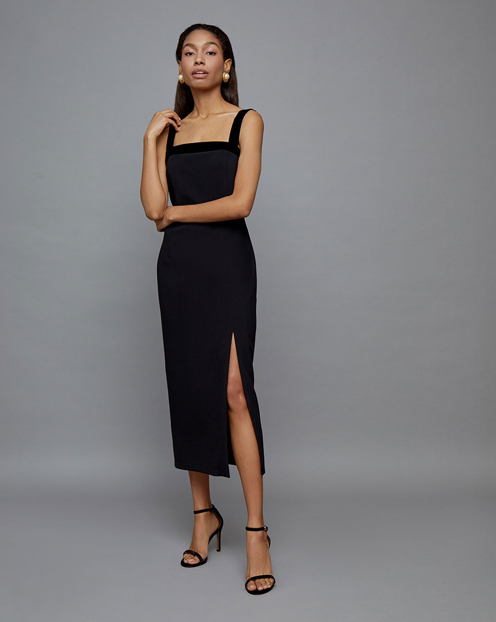 12Storeez Платье с открытой спиной (Черный)