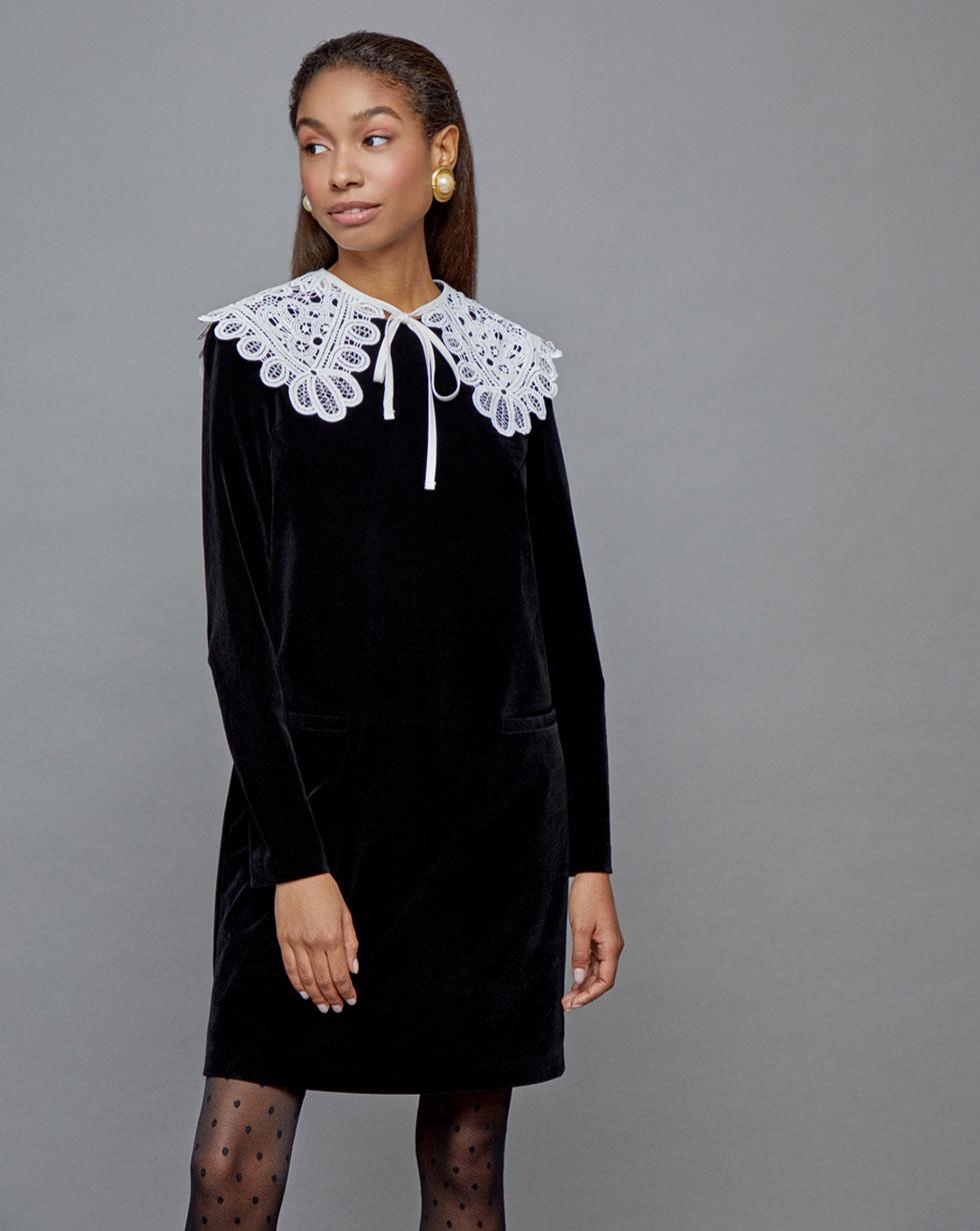 12Storeez Платье со съемным воротником