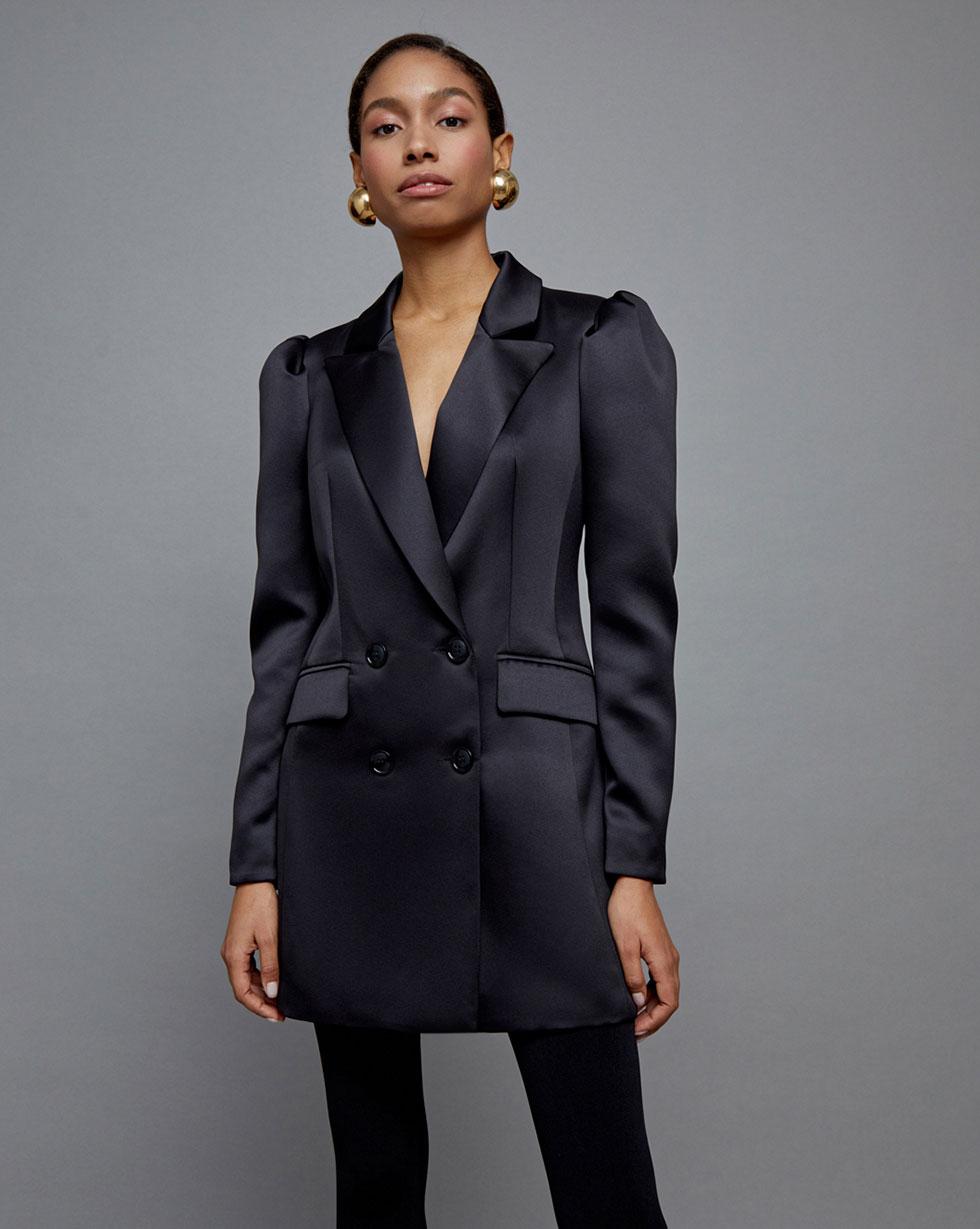 Платье-жакет с объемными рукавами L фото
