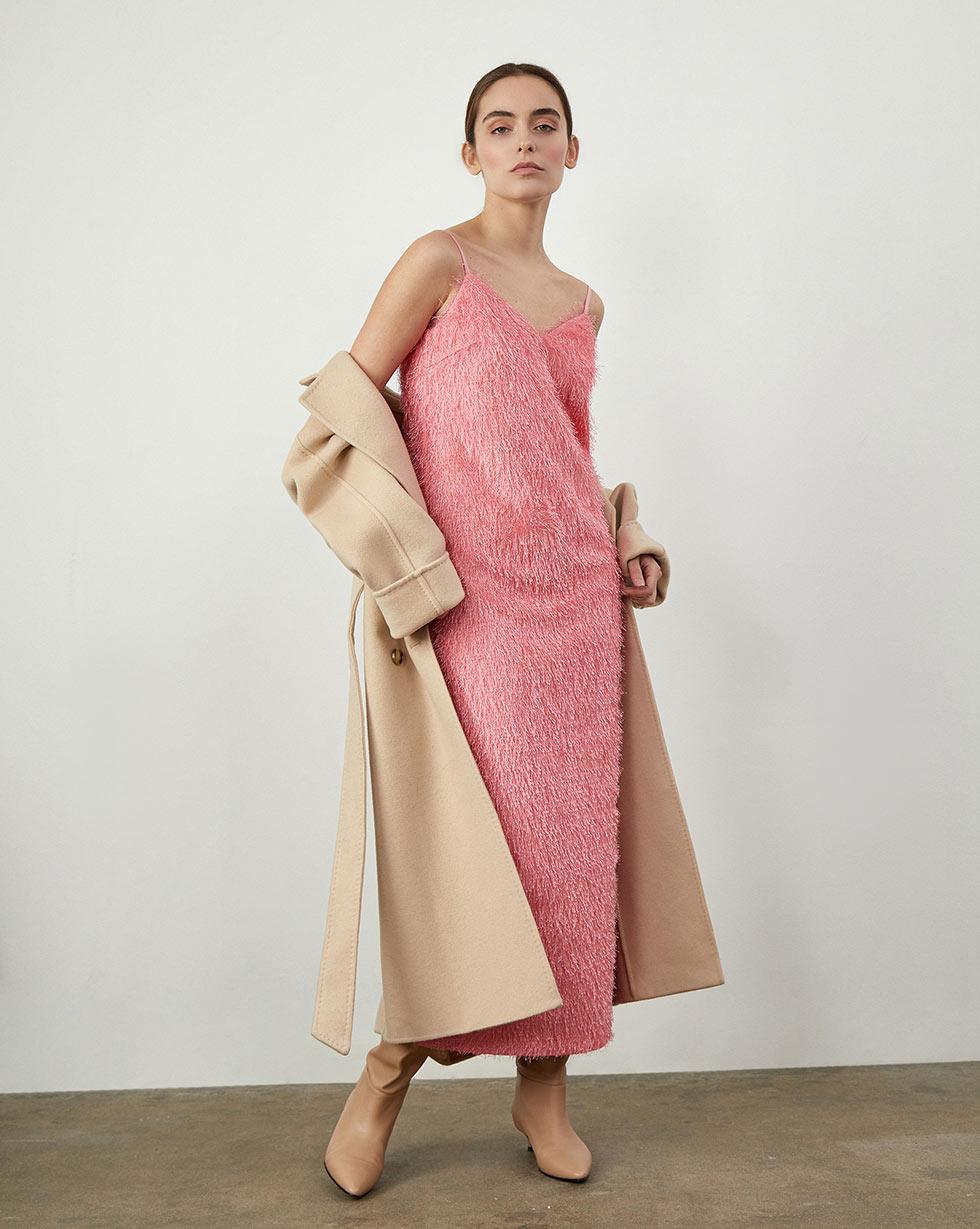 12Storeez Платье миди с открытой спиной