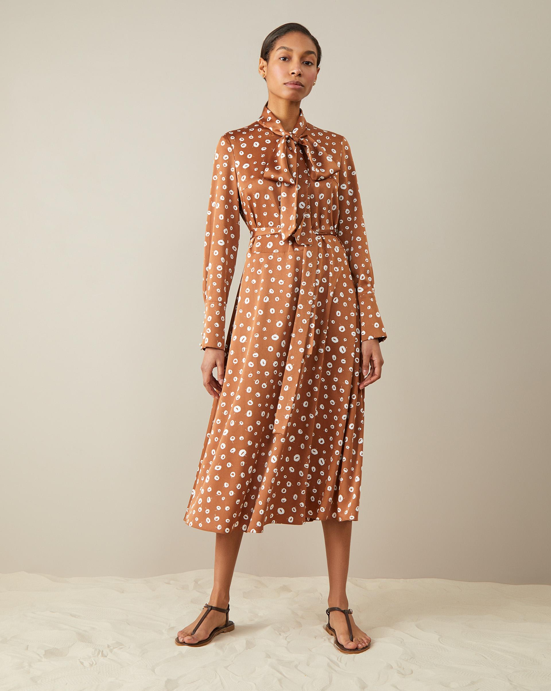 Платье миди с бантом XS фото