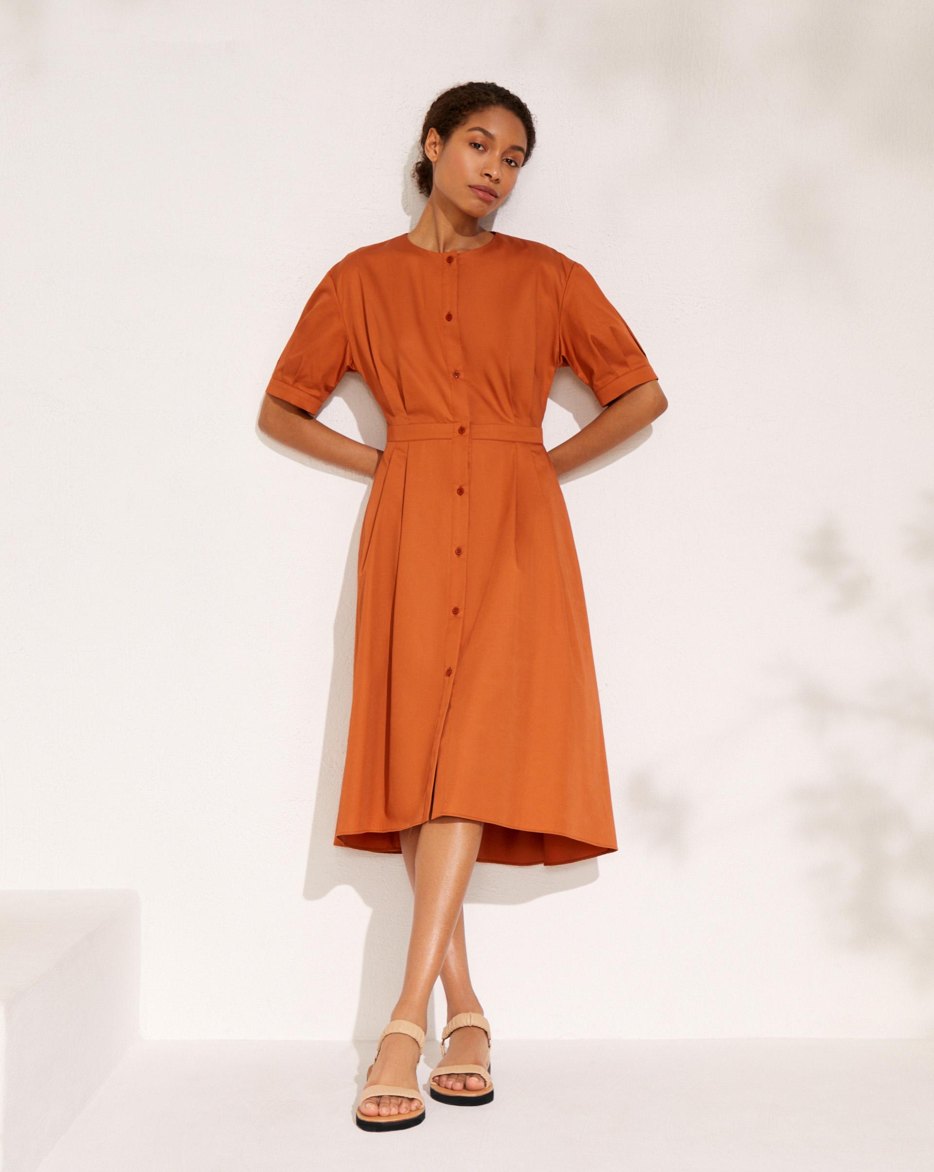 12⠀STOREEZ Платье-рубашка с асимметричным низом